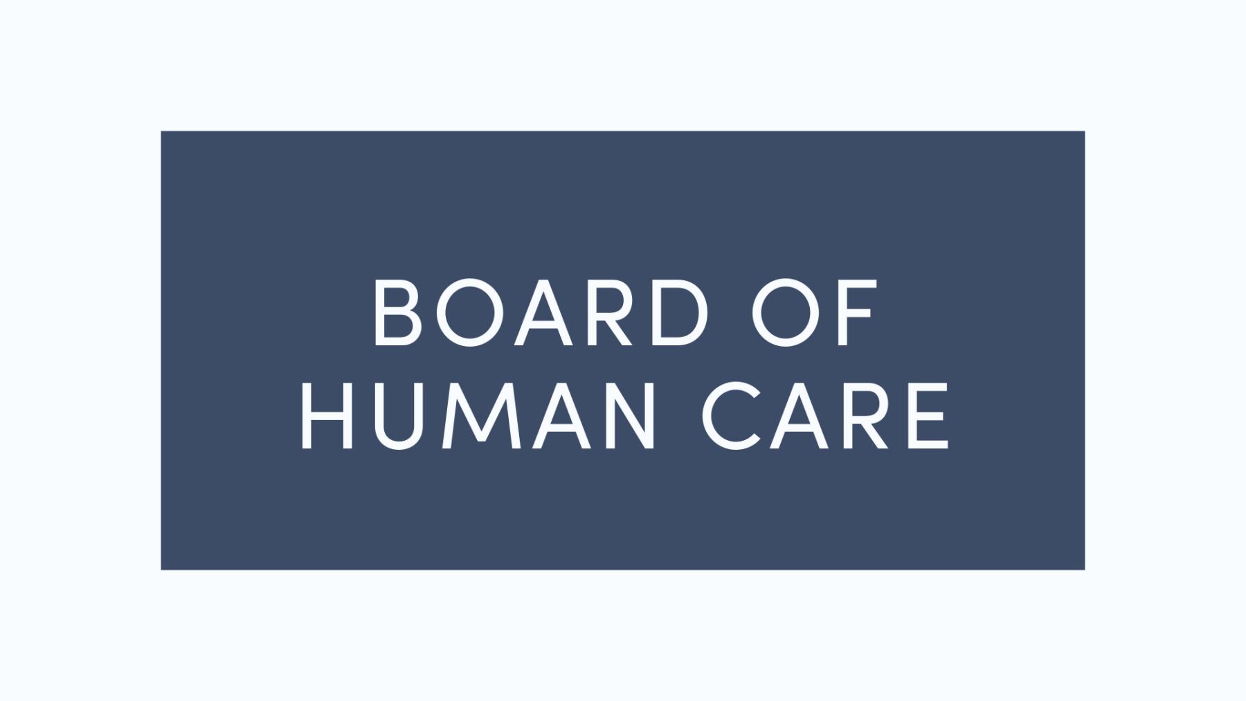 Board of Human Care