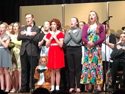 annie jr musical cast immanuel lutheran school