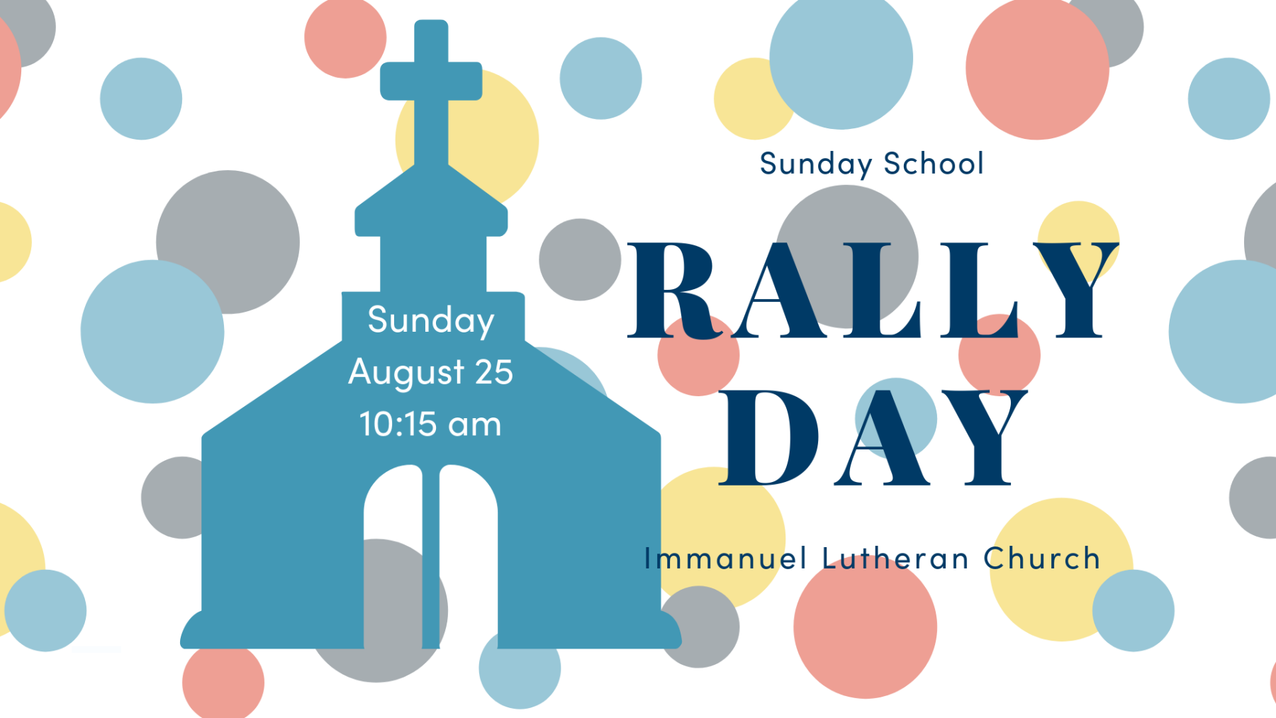 Sunday School Rally Day