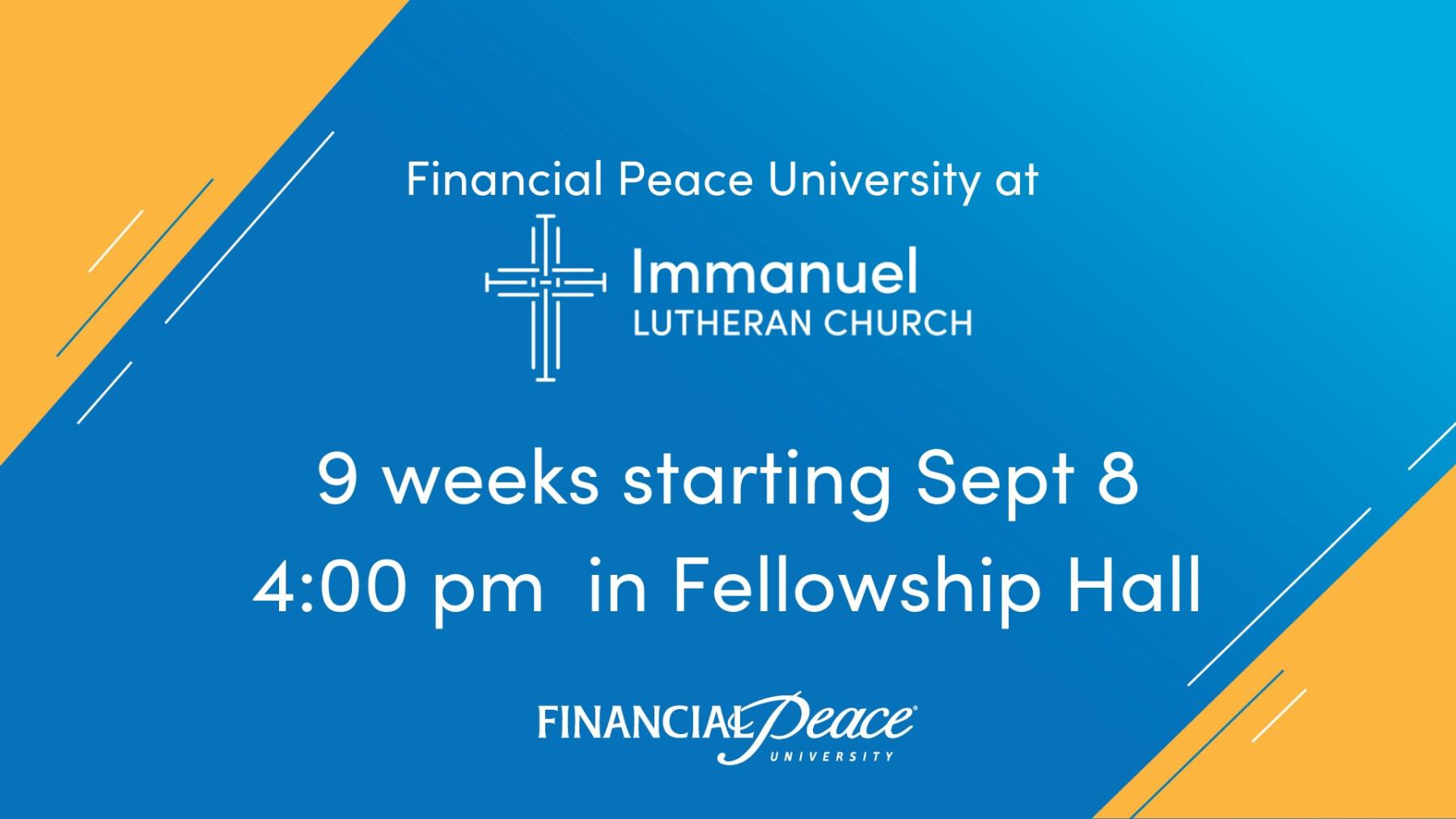 Financial Peace University Fall 2019