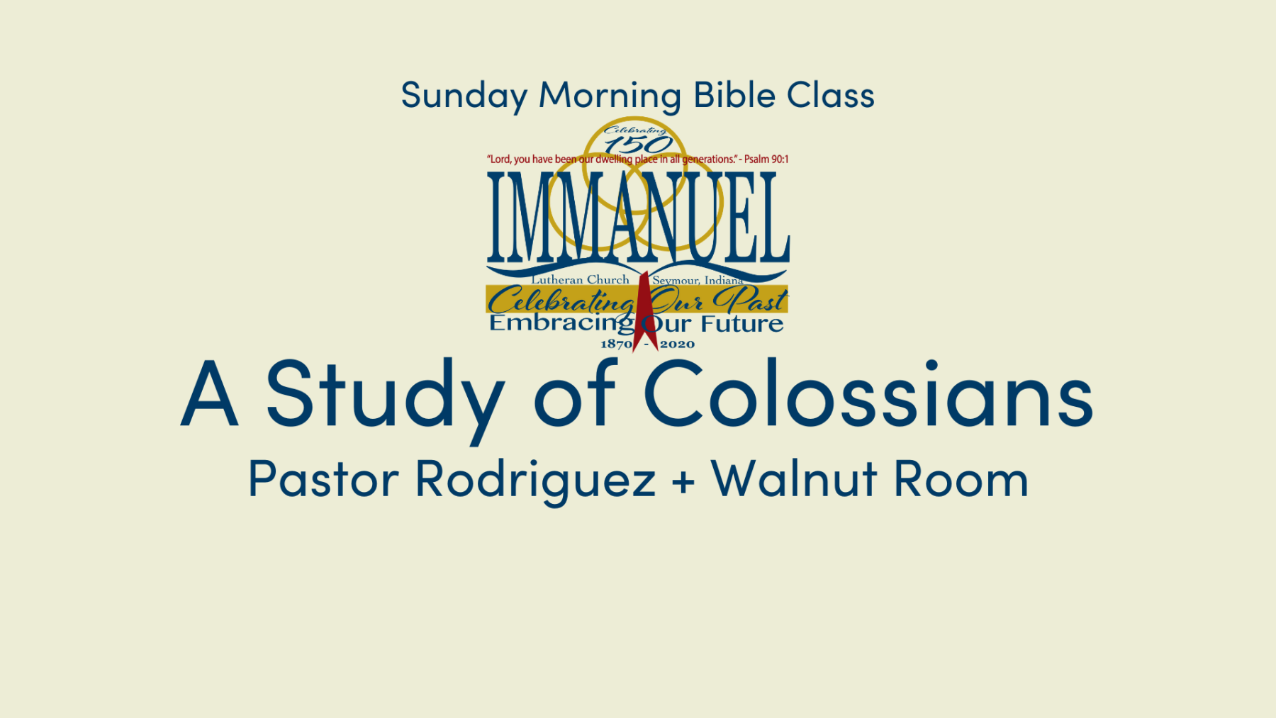 A Study of Colossians