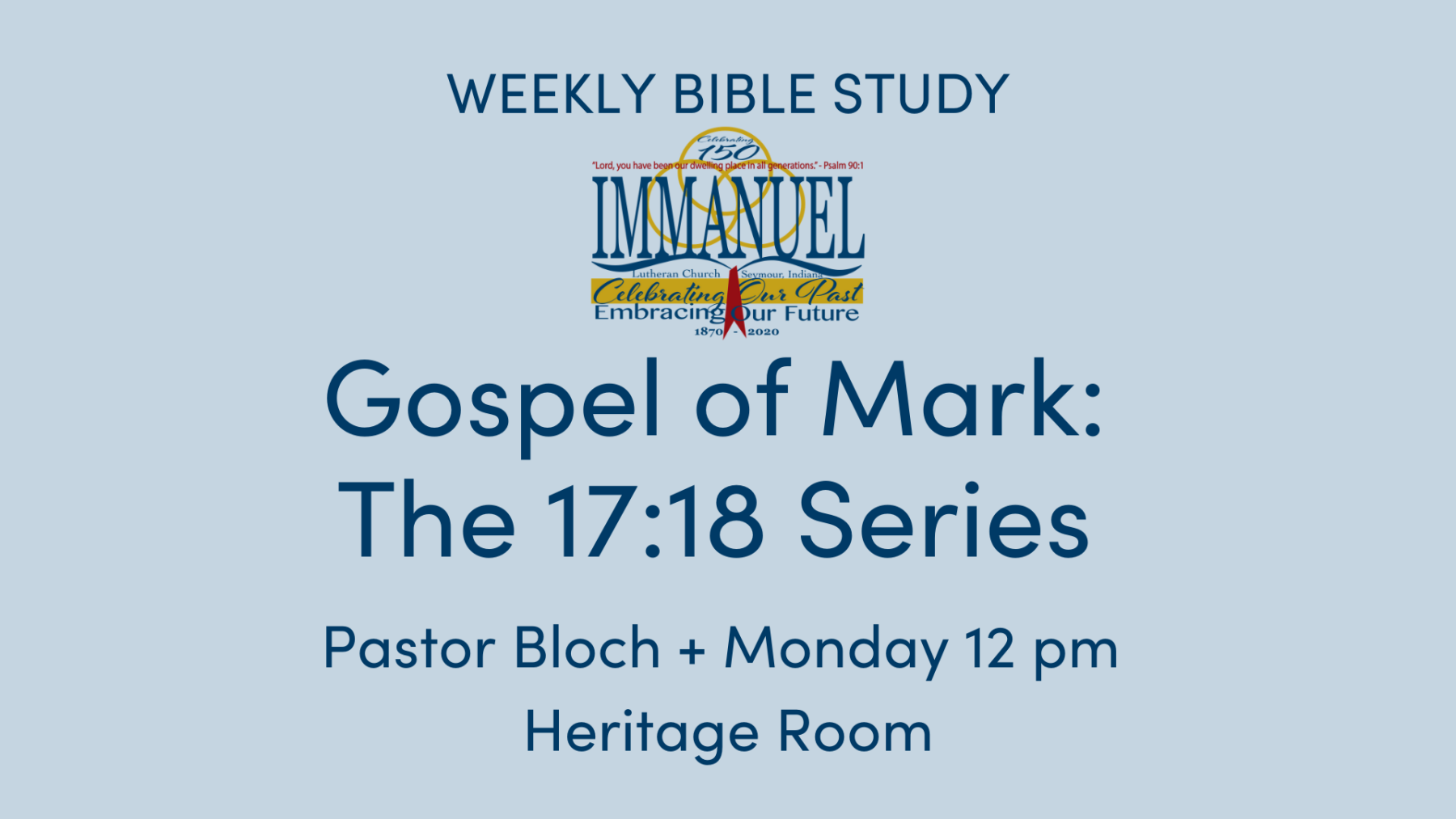 Gospel of Mark: The 17:18 Series