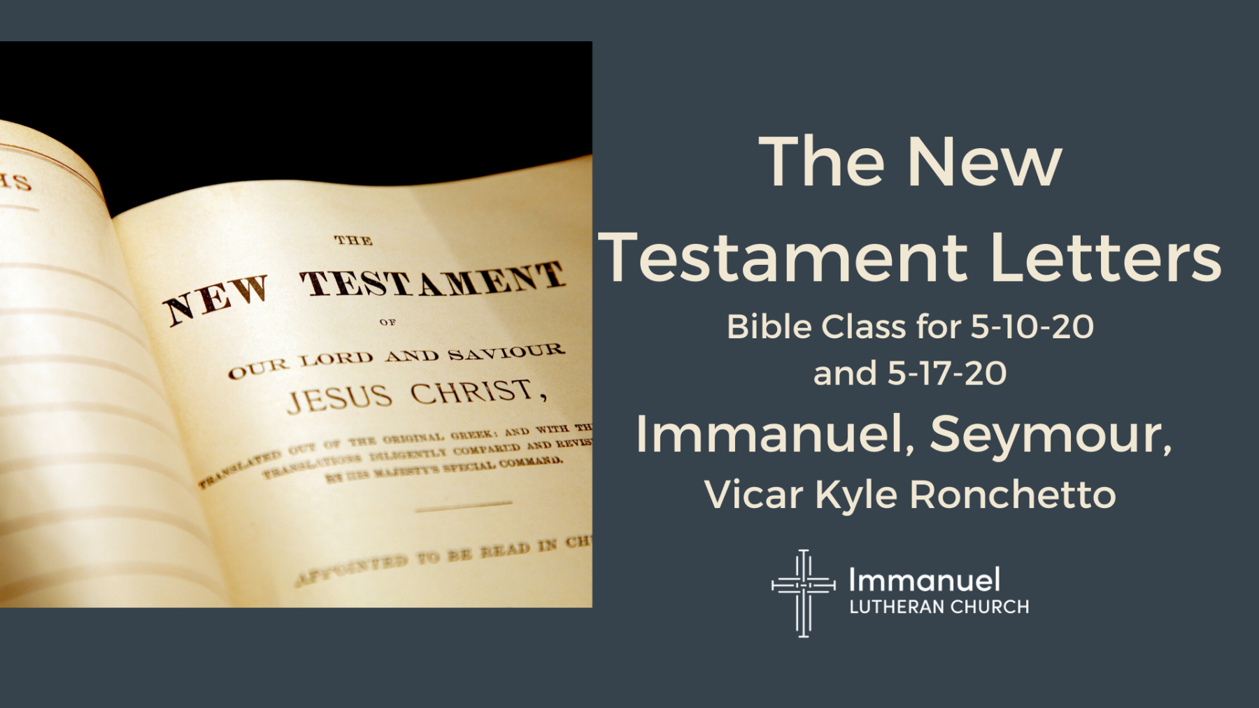 New Testament Letters