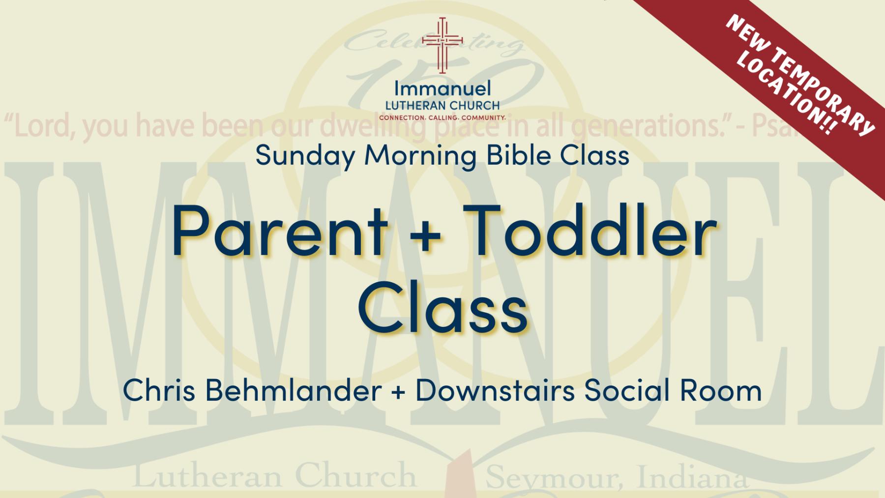 Parent + Toddler Class