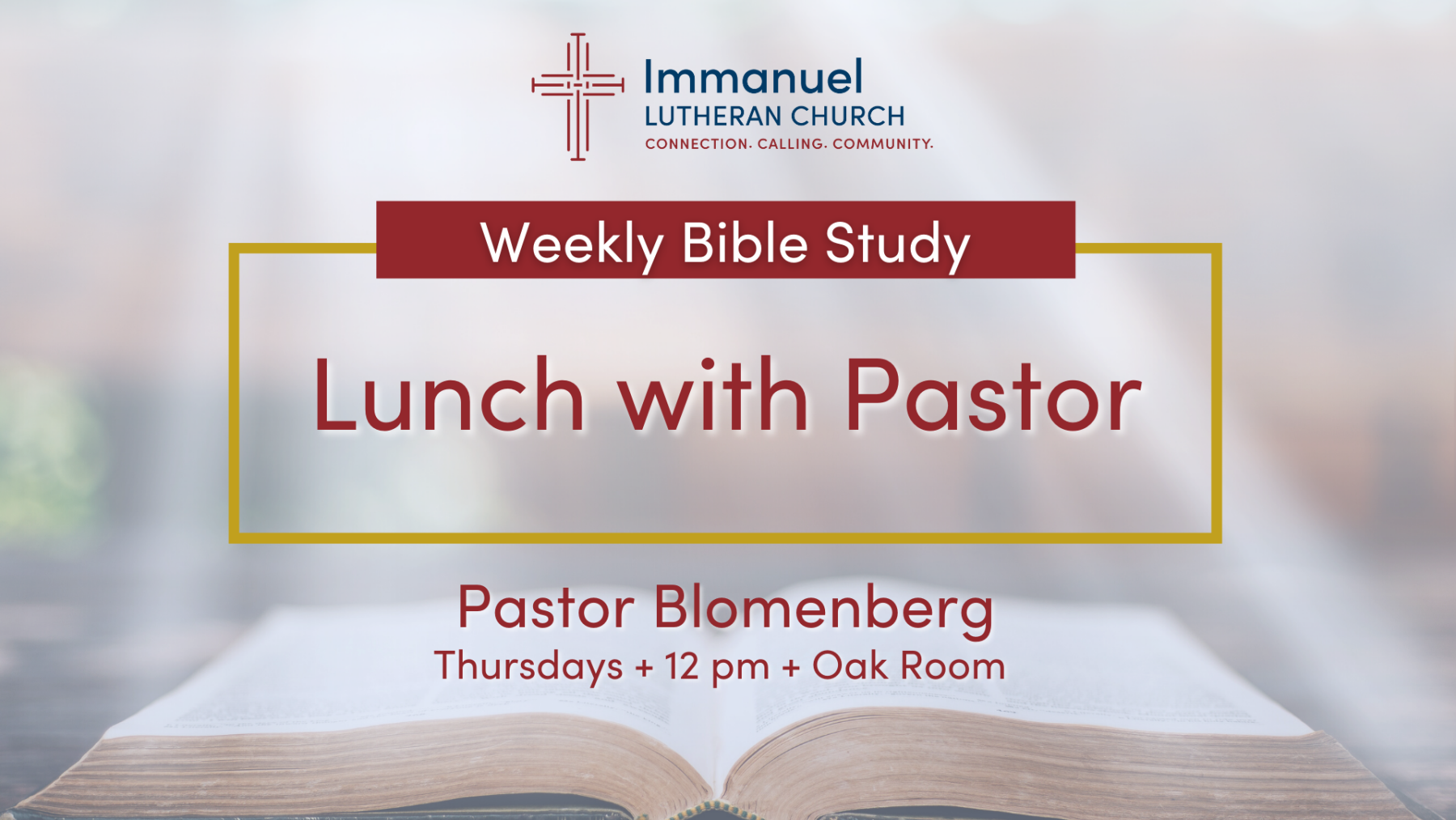 Lunch with Pastor