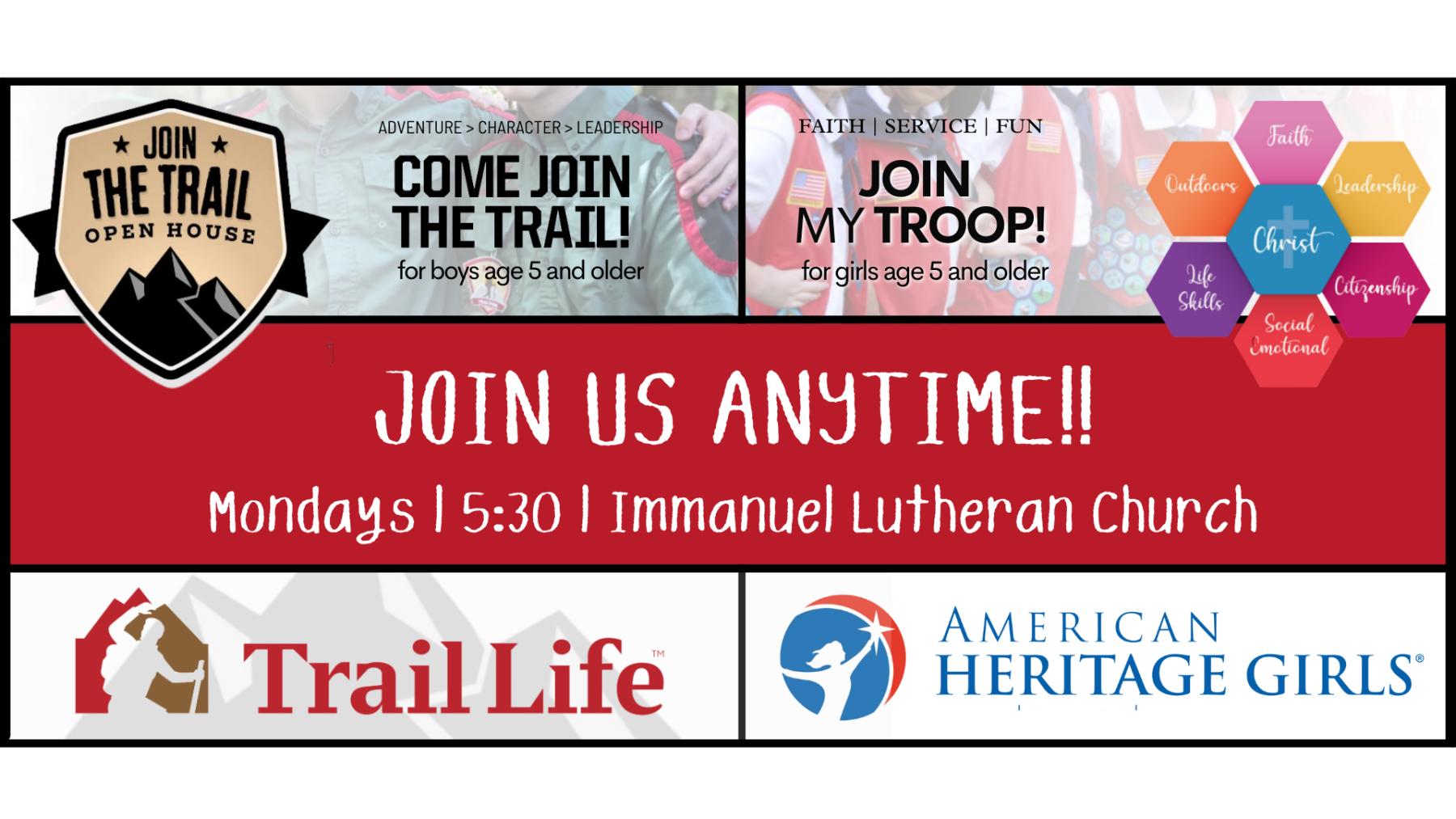 American Heritage Girls and Trail Life USA Meeting